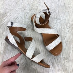 Franco Sarto Gustar Ankle Strap Flats Sandals